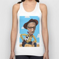 woody allen Tank Tops featuring Woody Allen by Joshua Ang