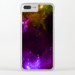 The Cosmos (purple and yellow) Clear iPhone Case