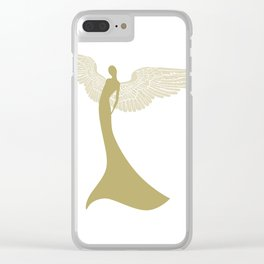 gold angel Clear iPhone Case