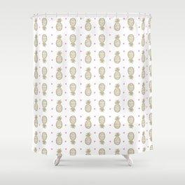 Golden pineapple pattern Shower Curtain