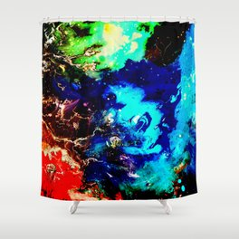 Cosmic Color Shower Curtain