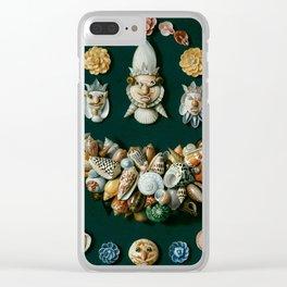 "Jan van Kessel de Oude ""Festoon, masks and rosettes made of shells"" Clear iPhone Case"