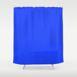Cheapest Solid Deep Blue Orchid Color Shower Curtain