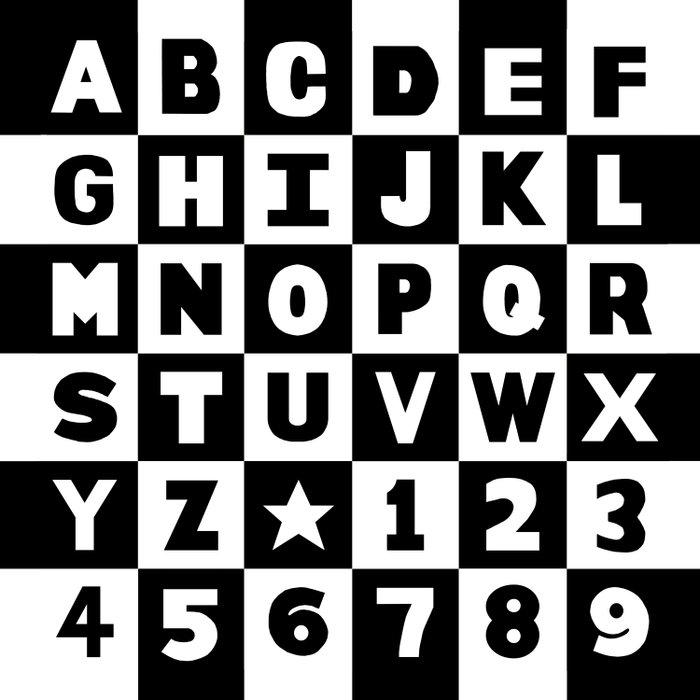 Alphabet Black and White Comforters