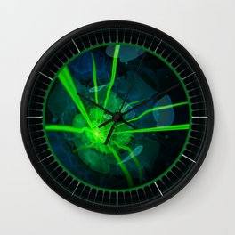 Atlantian Fractal -- Flower of the Long Sleep Wall Clock