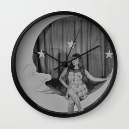 Paper Moon - Tintype Photo Wall Clock