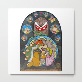 Beauty and the Bowser Metal Print