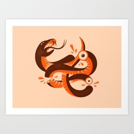 To HELL with the devil! Red/Orange Art Print