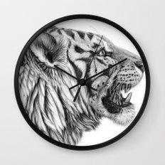 White Tiger Profile Wall Clock