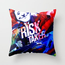 Risk Taker Throw Pillow