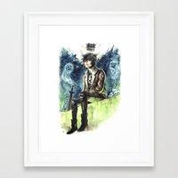 nico di angelo Framed Art Prints featuring Nico Di Angelo - Son Of Hades by AkiMao