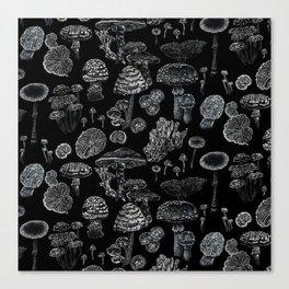Mycology Black Canvas Print