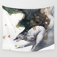 runner Wall Tapestries featuring Night Runner by Rubis Firenos