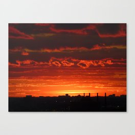 Sunset/Cityscape 2 Canvas Print