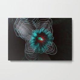NeoFlora Metal Print