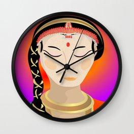 Tamil Indian Dancer (close up) Wall Clock