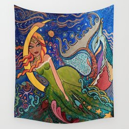 La charmeuse au clair de lune Wall Tapestry