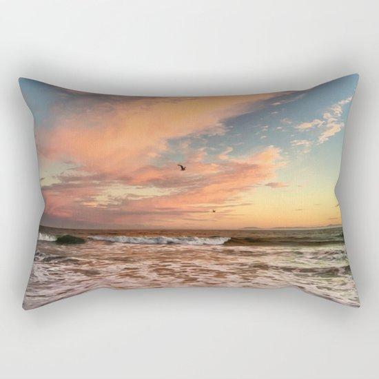 Cotton Candy Sunset Rectangular Pillow