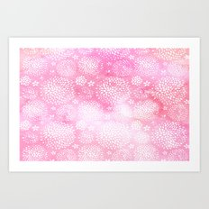 Pleasant Pink Blooms Art Print