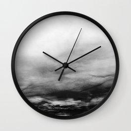 WHITE & BLACK TOUCHING #1 #abstract #decor #art #society6 Wall Clock