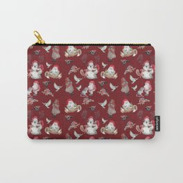 Red Gnome Pattern - Christmas Carry-All Pouch