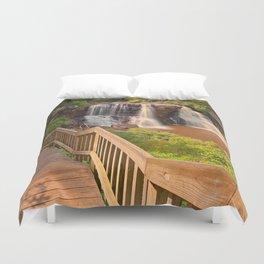 Winding Blackwater Falls Duvet Cover