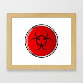 Red Bio Hazard Emergency Button Framed Art Print