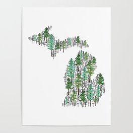 Michigan Forest Poster