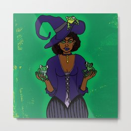 The Frog Witch Metal Print
