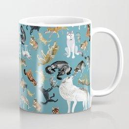Wolves of the World pattern 2 Coffee Mug