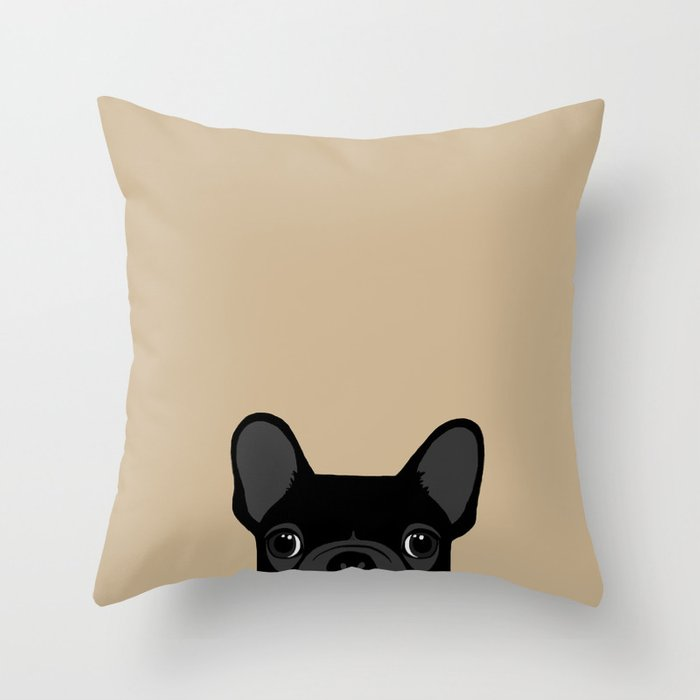 French Bulldog Black On Tan Throw Pillow By Annewashere Society40 Delectable Black And Tan Decorative Pillows
