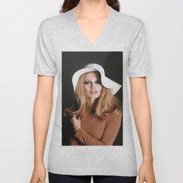 Brigitte Bardot Young Poster Unisex V-Neck