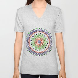 Mandala Creation #3 Unisex V-Neck