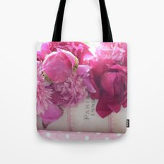 Romantic Paris Peonies  Tote Bag