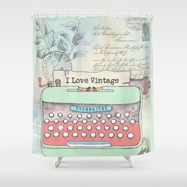 Typewriter #2 Shower Curtain