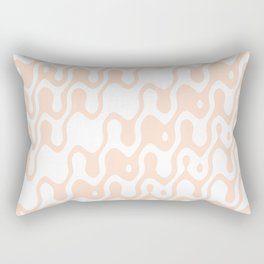 Asymmetry collection: soft coral dreams, print in pastel color Rectangular Pillow