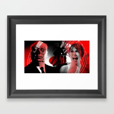 shadow death hero's HITCHCOCK Framed Art Print