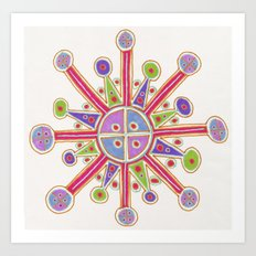 Happy Cross Art Print
