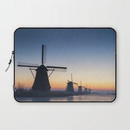 Windmills at Sunrise IV Laptop Sleeve