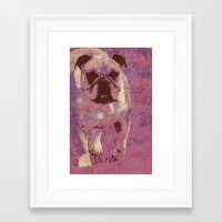 bulldog Framed Art Prints featuring Bulldog by Angelandspot