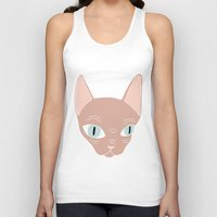 sphynx Tank Tops featuring Sphynx by Shaye Display Illustrations