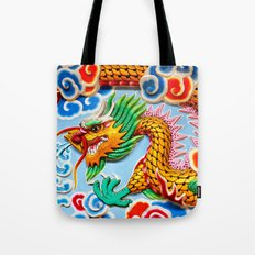 Chinese Temple Wall Art Tote Bag