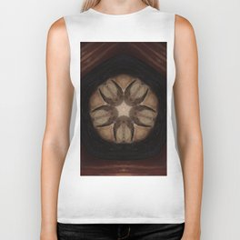 """Earth Star Mandala (created from the painting """"Shine Your Light"""") Biker Tank"""
