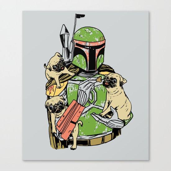 Pug Hunter Canvas Print