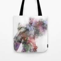 millenium falcon Tote Bags featuring Falcon by NKlein Design