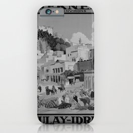 retro retro PLM Moulay-Idriss poster iPhone Case