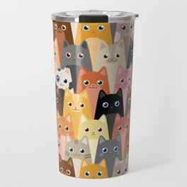 Cats Pattern Travel Mug