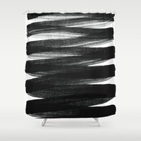 strong Shower Curtains featuring TX01 by Georgiana Paraschiv