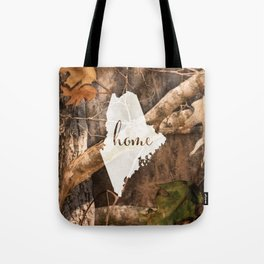 Maine is Home - Camo Tote Bag