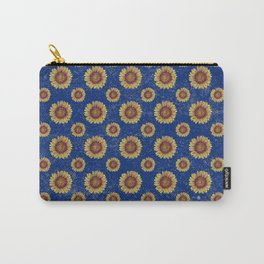 Swirly Sunflower Carry-All Pouch
